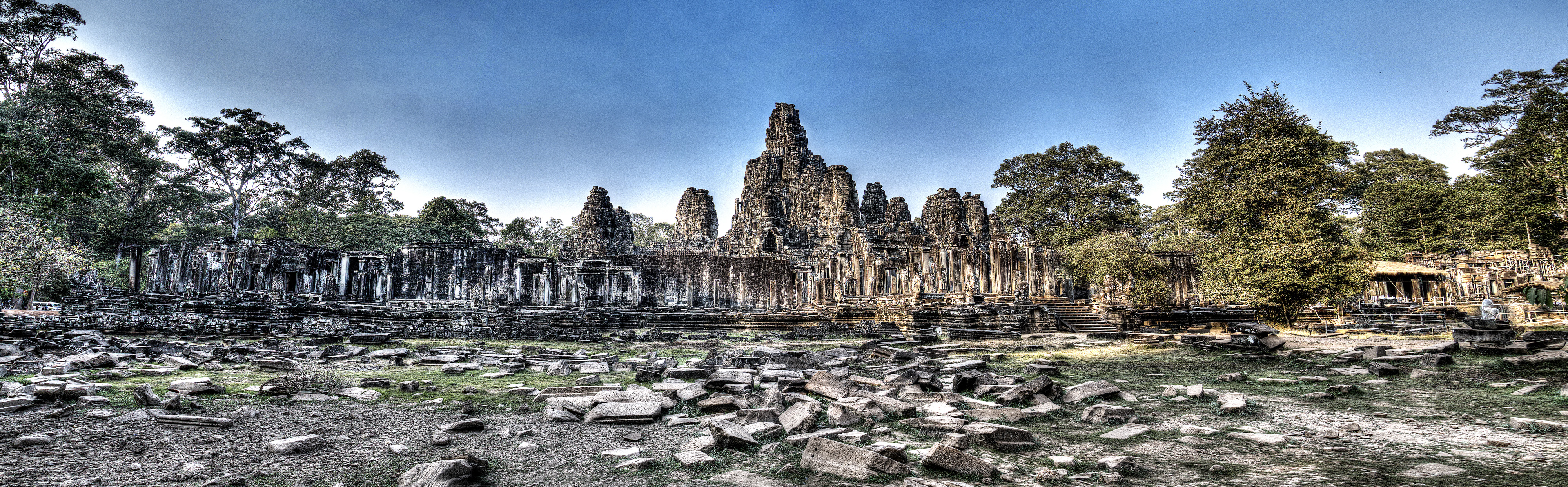 The Khmer Angorian tempel of Bayon; known as the Mona Lisa of South East Asia.