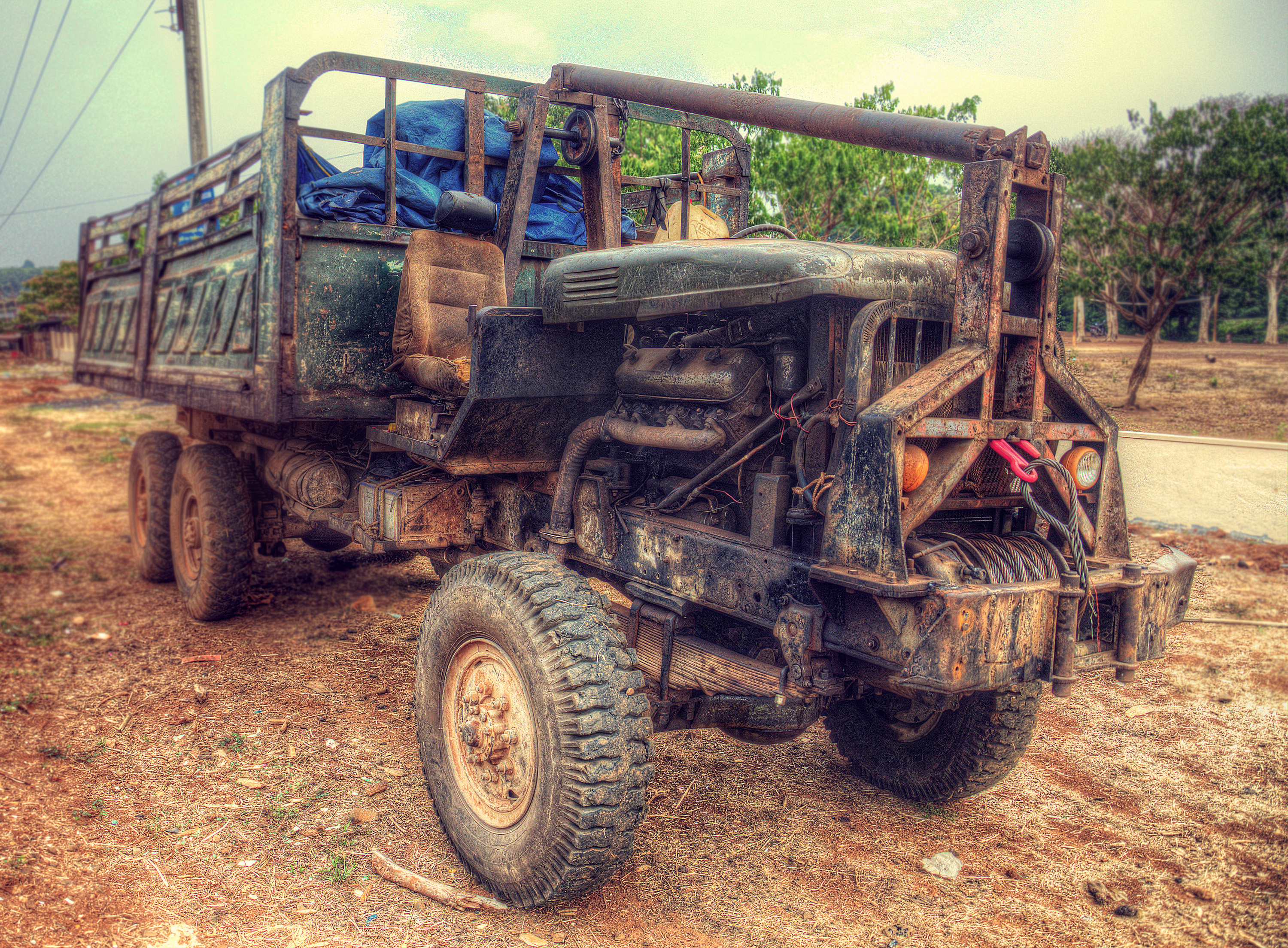 russian zil 131 6x6 army truck, in cambodia