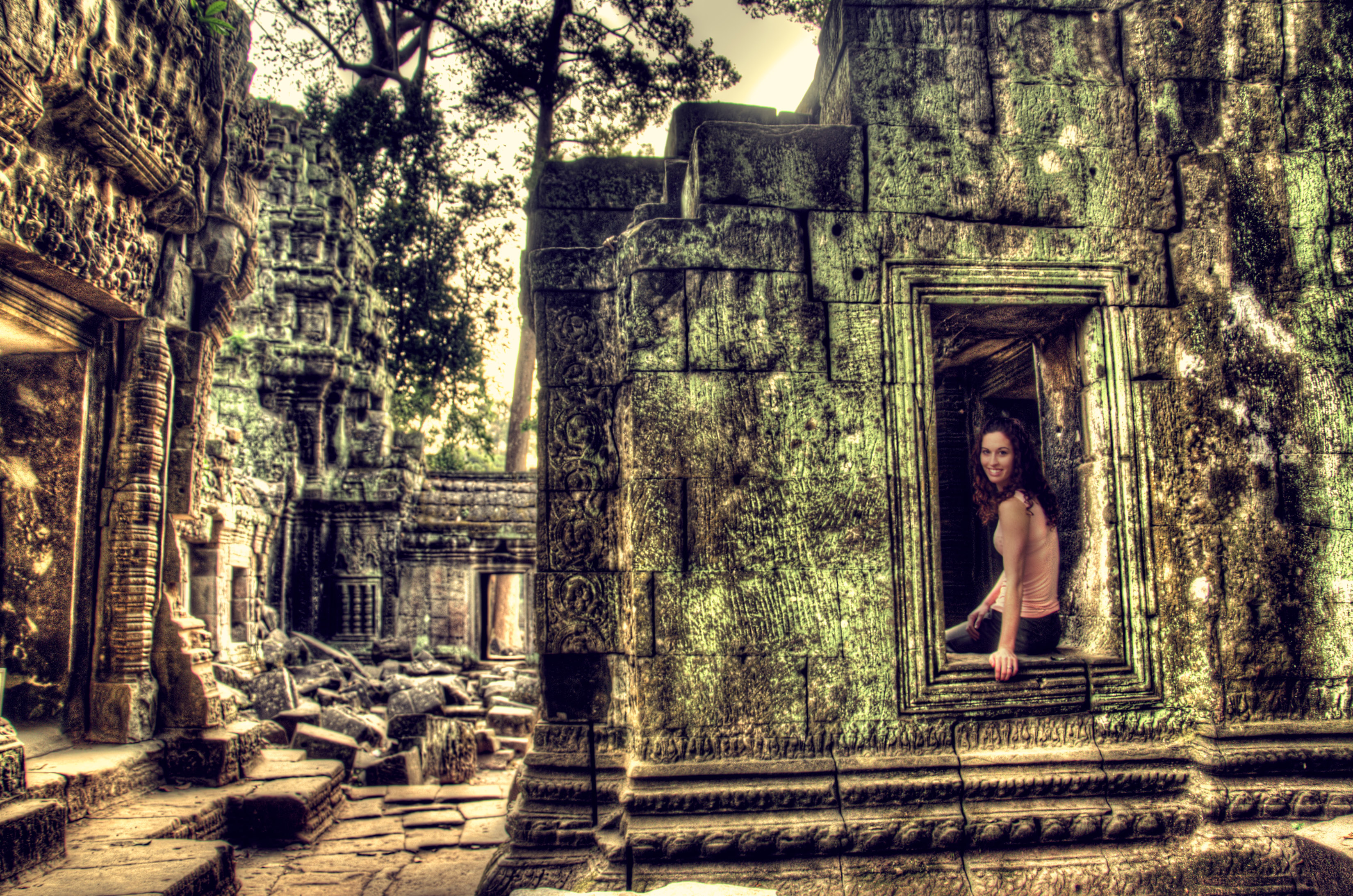 Long forgotten temple Ta Prom